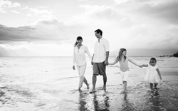 Financial-planning-family on beach